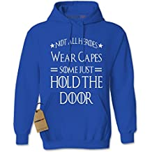 Expression Tees Men's Hoodie Hold The Door Adult