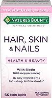 Nature's Bounty Optimal Solutions Hair, Skin & Nails Formula, 60 Tablets 海外直送品
