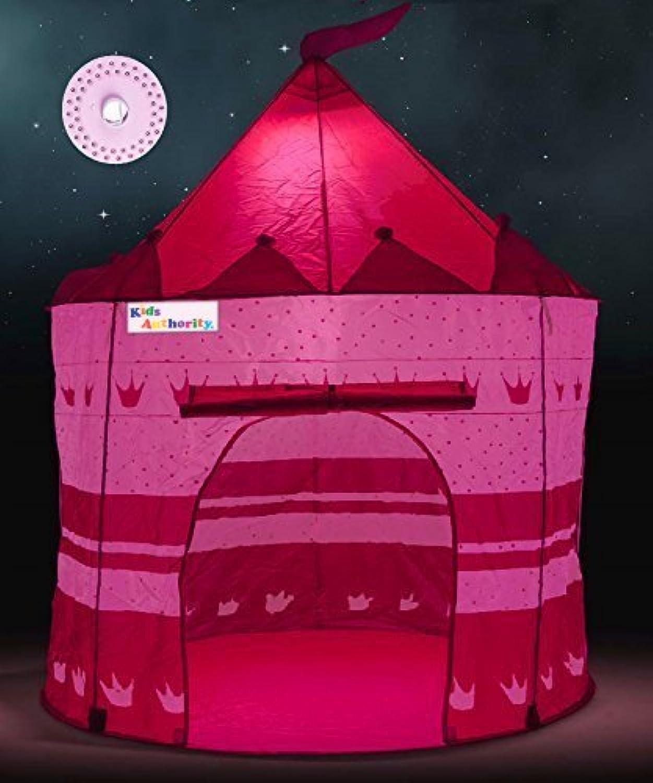 Pretty Princess Castle Play Tent for Girls – Includes LEDランプ& Glow in the Dark Stars – Multipurposeインドア/アウトドアキッズテントと点灯Playhouse – CPSIA準拠