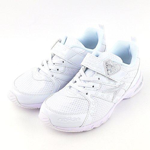 [シュンソク] 瞬足レモンパイ 女の子 白スニーカー アキレス LEJ4270 (22.5cm, 白/白)