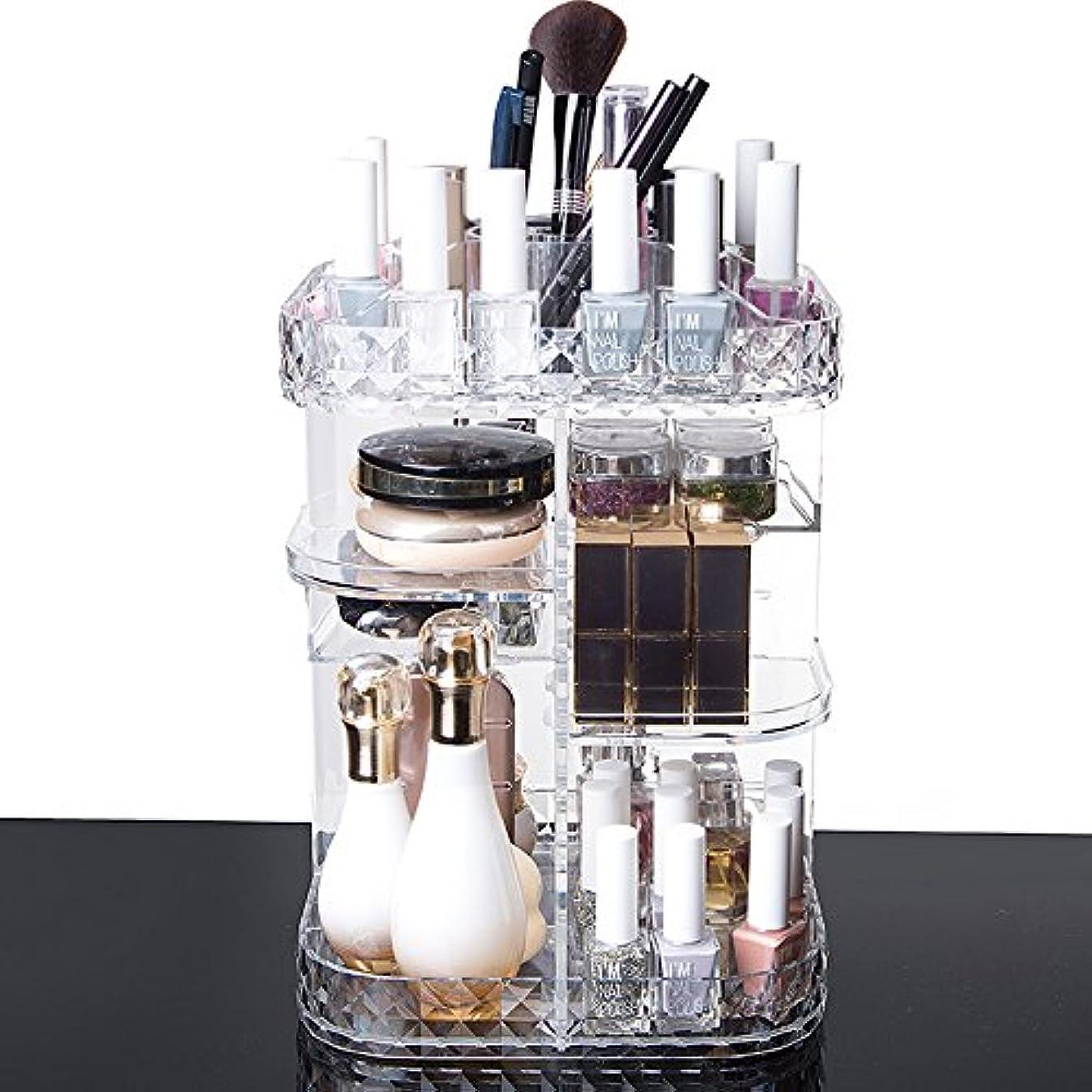 メッセージ女の子忠実な化粧品収納ボックス メイクケース メイクボックス 化粧品入れ コスメ収納スタンド (360度回転式)