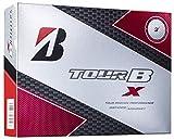 ブリヂストン(BRIDGESTONE) ゴルフボール TOUR B X CORPORATE COLOR ゴルフボール(1ダース 12球入り) メンズ 8BCXJ ホワイト 弾道:中弾道 ボールタイプ:スピン