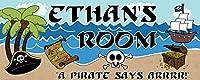 Mona Melisa Designs Customized Pirate Ethan Name Sign Decorative Wall Sticker [並行輸入品]