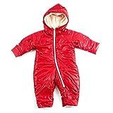 (ファンファン) FUN fun カバーオール ロンパース ジャンプスーツ ベビー 新生児 レッド 男女共用 60 - 70cm