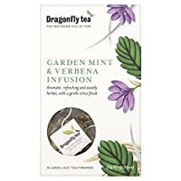 (Dragonfly (トンボ)) 庭のミント&バーベナティーピラミッドバッグパックあたり15 (x6) - Dragonfly Garden Mint & Verbena Tea Pyramid Bags 15 per pack (Pack of 6) [並行輸入品]