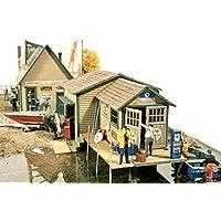 HO Scale Kilborn Marine Sales - 2 Buildings -- Sales Office & Workshop/Marine Service Station