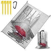 赤い傘とエッフェル塔 レジャー旅行シートピクニックマット防水145×200センチ折りたたみキャンプマット毛布オーニングテントライトと収納が簡単ポータブル巾着