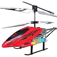 Liebye RC航空機 子供用ギフトとしてジャイロ耐性航空機を備えた合金3チャンネル大型ヘリコプター