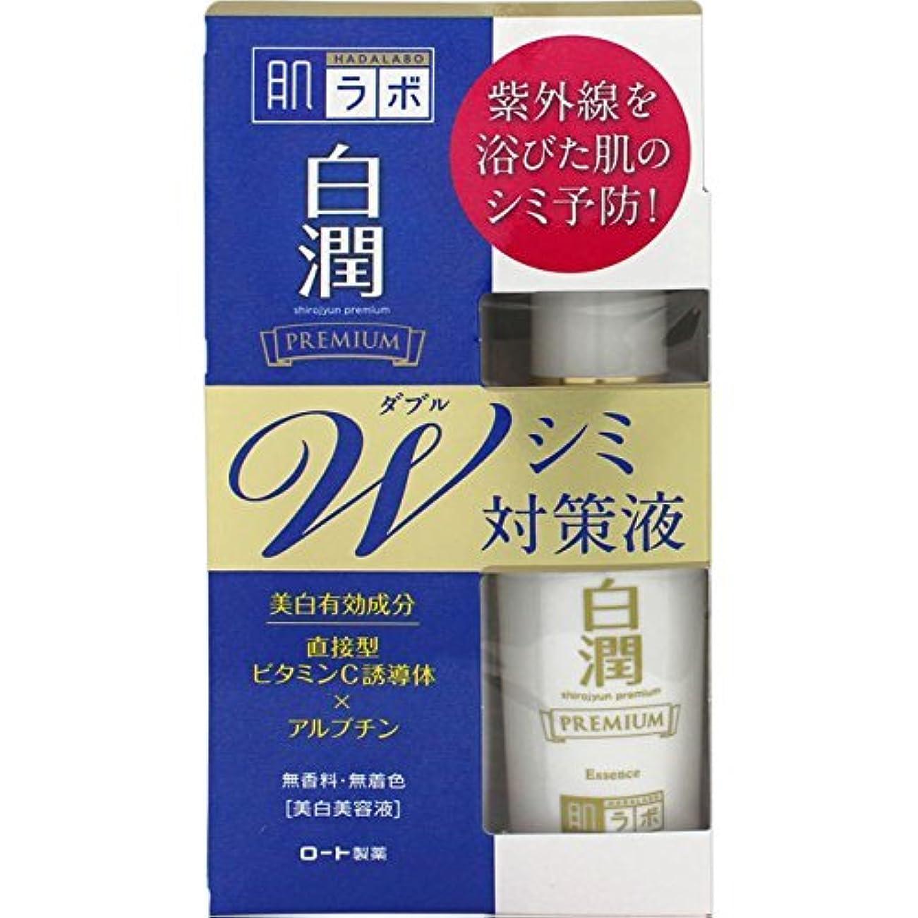 抵抗する辞書仲介者肌ラボ 白潤 プレミアムW美白美容液 40mL (医薬部外品)×2