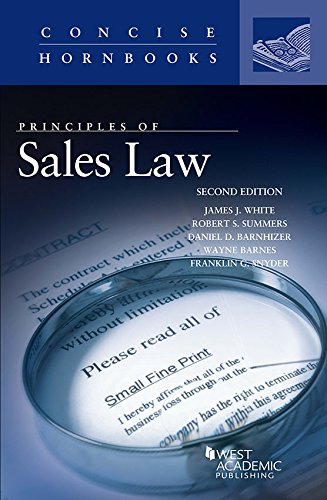 Download Principles of Sales Law (Concise Hornbook) 1683285026