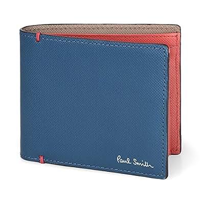ポールスミス Paul Smith メンズ 二つ折り財布 カードケース 取り外し可能 863488 P936 カラーコントラスト 牛革 レザー 本革 CONTRAST COLOR CARD WALLET ショップ袋 専用箱付 (ネイビー)