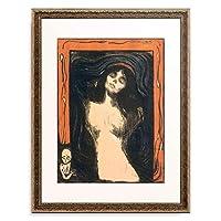 エドヴァルド・ムンク Edvard Munch 「Madonna」 額装アート作品