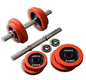 IROTEC(アイロテック) ラバー ダンベル20KGセット(片手10kg×2個)/筋トレ ダイエット器具 ベンチプレス トレーニング器具