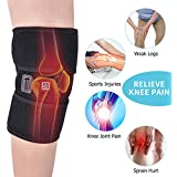 Heated Knee Brace Wrap 3-Speed Temperature Adjustment Heating Warm Knee Protection for Men & Women for Arthritis Support for Pain Relief (1 Pair)