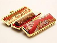 「彩華 茶印鑑16.5mm×60mm金ローケツC-24ケース付き」 横彫り 吉相体