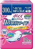 ポイズパッド 超吸収ワイド 女性用 吸収量 300cc 12枚【尿モレが少し気になる方】