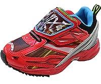 9052 仮面ライダージオウ キッズ スニーカー 仮面ライダー ライダー ジオウ 靴 運動靴 くつ (18cm, 02(レッド))