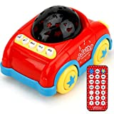 Light Flash Music Sound Rchargeable Teaching Machine Appease Boby Small Aircraft Car Puzzle Learning Tool Educationa Tool - Red