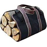 Heavy Duty Sturdy Firewood Log Carrier with Handles Security Strap for Camping Waxed Canvas Log Carrier 36 x 16 x 0.1 inches
