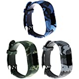 ECSEM Replacement Bands and Straps for Garmin vivofit JR & vivofit 3, [fits 6~8.5 inch wrists] (3pack D)