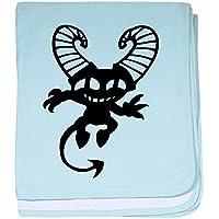 CafePress – Evil – スーパーソフトベビー毛布、新生児おくるみ ブルー 084232919025CD2
