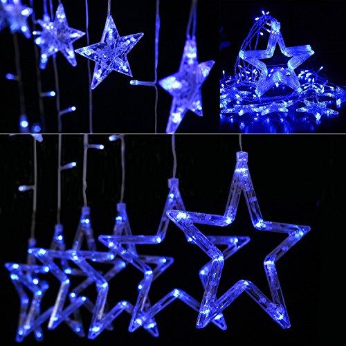 BIENNA イルミネーションライト LED 星型 USB式 カーテンライト 電飾 飾り 装飾ライト LEDストリングライト 室内 室外 庭 祝日 結婚式 正月 クリスマス パーティ 2M×1M 防水 8種点灯モード コントローラ付き