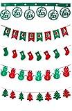 asaichi クリスマス 飾り 装飾 フラッグ 旗 デコレーション ガーランド バナー パーティー 吊り フラグ 壁飾り 小物 小道具 クリスマスツリー オーナメント