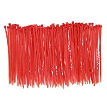 150 Pieces Heavy Duty 8 Inch Red Cable Zip Ties, Strong 50 LBS Strength Cord Management, Multi Purpose Festivals Home Decoration Outdoor Fastening Ties, Wire Zip Ties(8 Inch, Red, 150 Pack, 50 LBS)