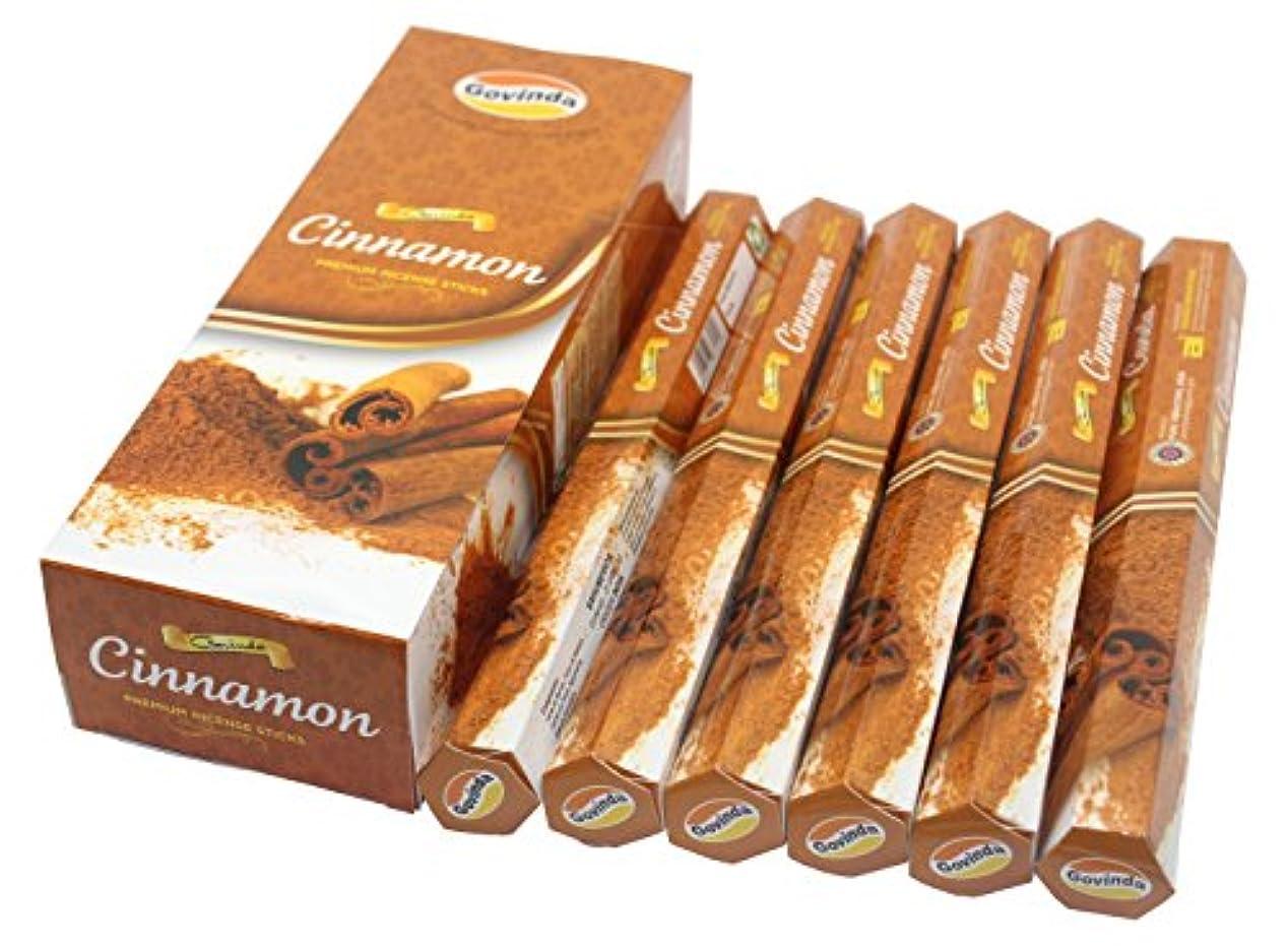 系統的ベットさらにGovinda Incense – Cinnamon – 120 Incense Sticks、MasalaコーティングIncense