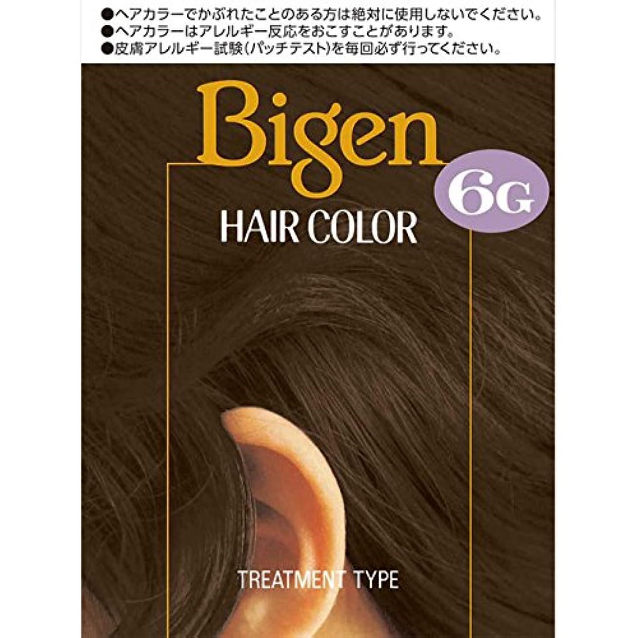 株式春朝の体操をするホーユー ビゲン ヘアカラー 6G 自然な褐色 40ml×2