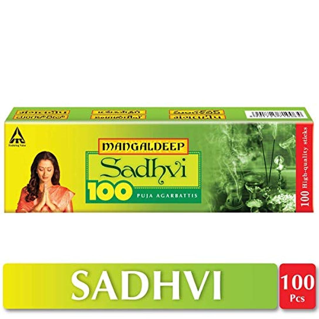 飲み込む備品配管Mangaldeep Sadhvi Agarbatti - 100 Sticks