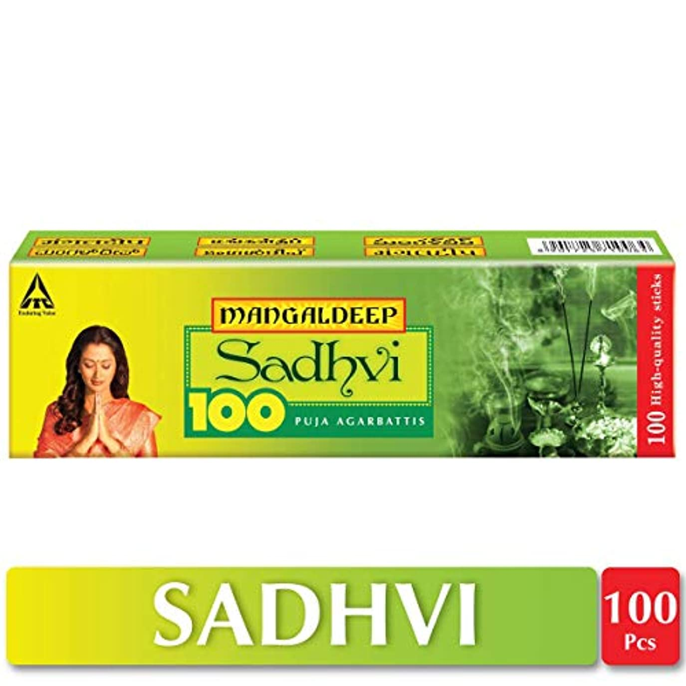 また運動するパケットMangaldeep Sadhvi Agarbatti - 100 Sticks