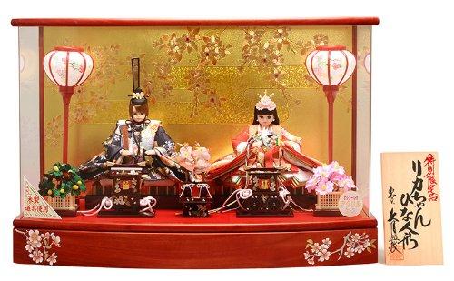 人形の久月 雛人形 リカちゃん ひな人形 ケース飾り 親王飾り シリアル入 久月×タカラトミー 人形屋ホンポオリジナル 限定品 h273-ri-275