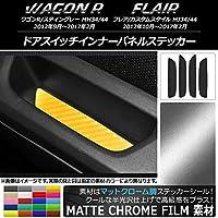 AP ドアスイッチインナーパネルステッカー マットクローム調 スズキ/マツダ ワゴンR/フレア ホワイト AP-MTCR1009-WH 入数:1セット(4枚)