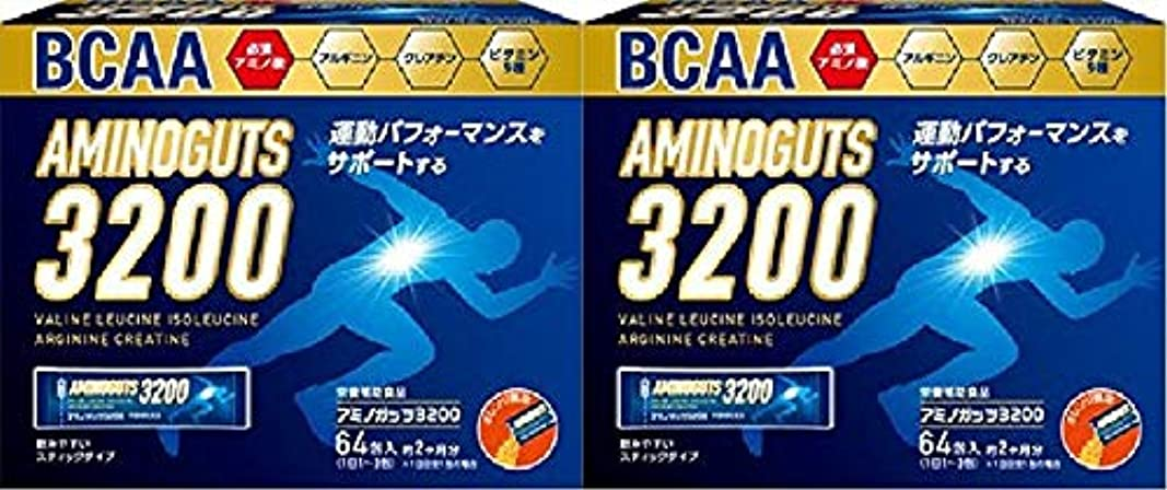シミュレートするシャワーセールスマン【2個セット】アミノガッツ3200 (64包)