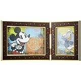 FUJICOLOR 写真立て ディズニー ツインフォトフレーム ミッキーマウス L/2L 2面 ブラウン 504815