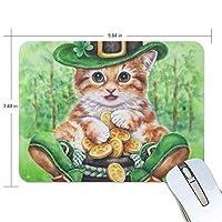 マウスパッド 聖パトリックの日の猫 ゲーミングマウスパッド 滑り止め 19 X 25 厚い 耐久性に優れ おしゃれ