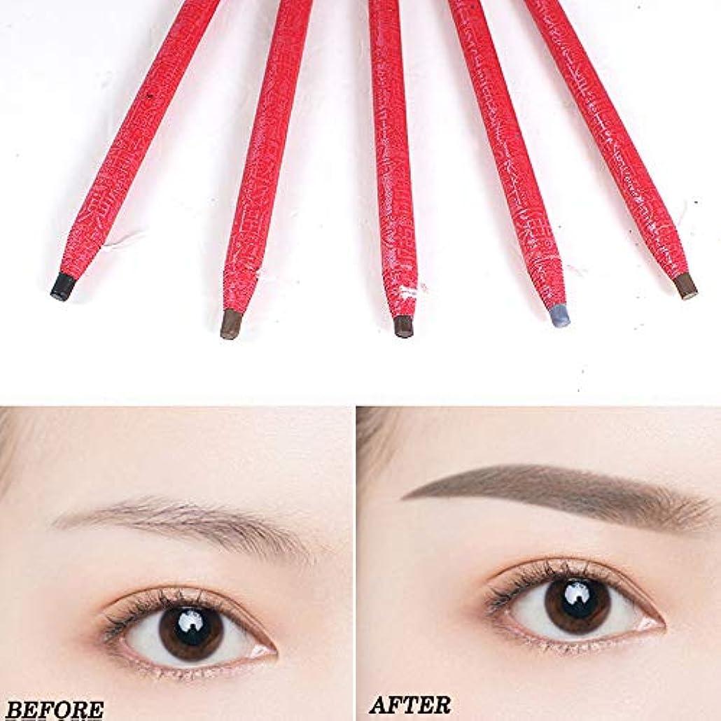 5ピース描画眉ペン刺繍ペン防水眉ペンメイクアップツール
