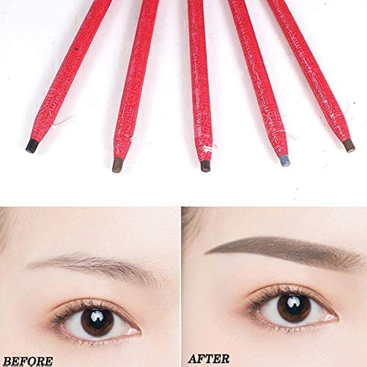 論理的に属性慣習5ピース描画眉ペン刺繍ペン防水眉ペンメイクアップツール