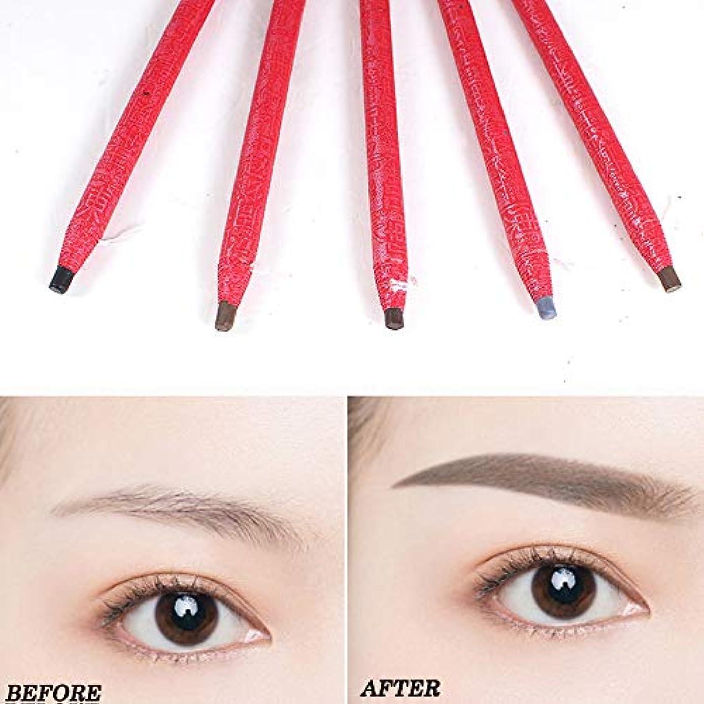 影のあるに対処する美人5ピース描画眉ペン刺繍ペン防水眉ペンメイクアップツール
