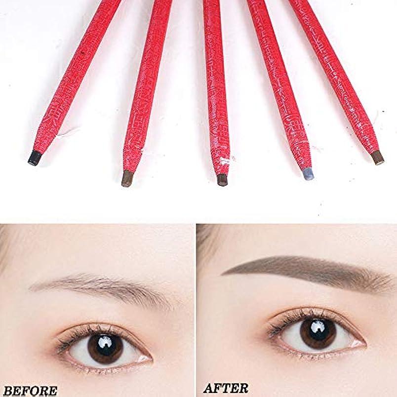 つらい研磨正規化5ピース描画眉ペン刺繍ペン防水眉ペンメイクアップツール