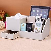 WTL かご?バスケット 革の収納ボックスの家のデスクトップの破片の収納ボックス (色 : M, サイズ さいず : 30.5*18*14.5cm)