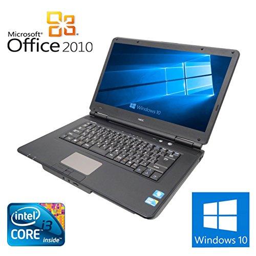 【Microsoft Office 2010搭載】【Win 10搭載】NEC VY22G/X-A/新世代Core i3 2.26GHz/メモリ2GB/HDD160GB/大画面15.6インチ/バッテリー充電不可!DVDドライブ/無線LAN搭載/中古ノートパソコン -
