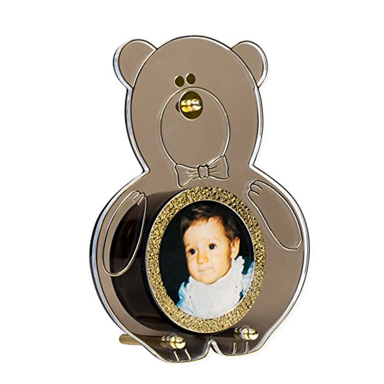 Panda Bear Shapedゴールドトーン真鍮MusicalフォトフレームPlays It 's A Small World