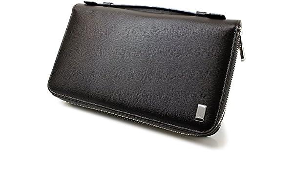 e6fa56760158 Amazon   [ダンヒル]Dunhill 長財布 サイドカー財布ダブルジップトラベルコンパニオン FP9790E ダークブラウン メンズ[並行輸入品]    Dunhill(ダンヒル)   財布
