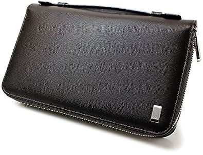 [ダンヒル]Dunhill 長財布 サイドカー財布ダブルジップトラベルコンパニオン FP9790E ダークブラウン メンズ[並行輸入品]