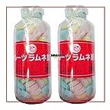 250グラム【目安として約107粒】 シマダ フルーツ大瓶 固形ラムネ菓子×2瓶【2h】