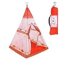 LilyAngel インド 子供テント エスニックスタイル ベビーおもちゃ ユート プリンセス モスキートネット ゲームハウス (Color : レッド)