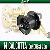 【Avail/アベイル】 シマノ 14カルカッタコンクエスト200用 NEWマイクロキャストスプール 14CNQ2060R ブラック