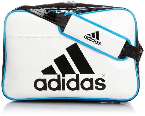 [アディダス] adidas エナメル ショルダーL Z7679 F92312 (ホワイト/ブラック/ソーラーブルー S14)